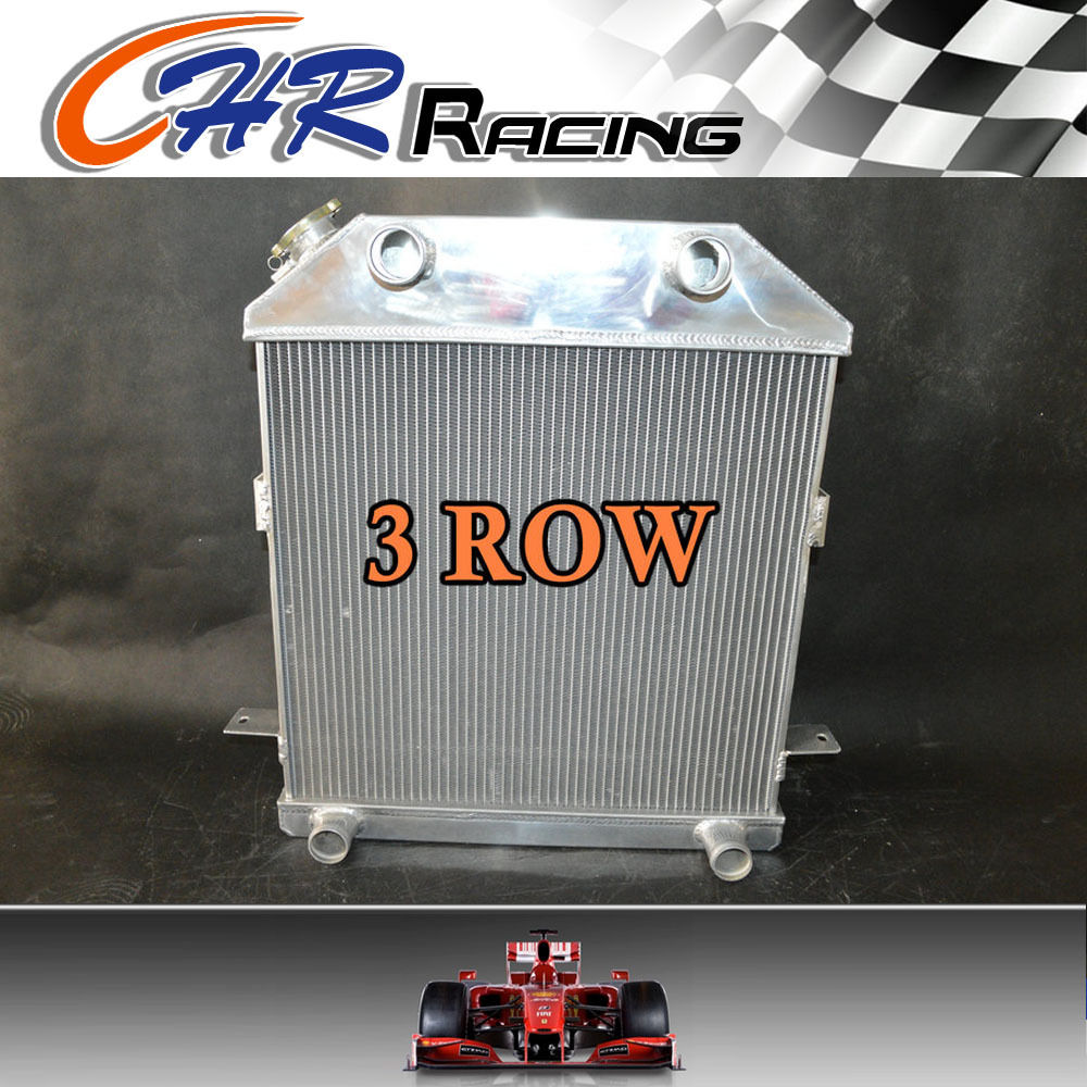 1939 1940 1941 Ford Car Radiator for Chevy Motor Aluminum 3 Row Champion