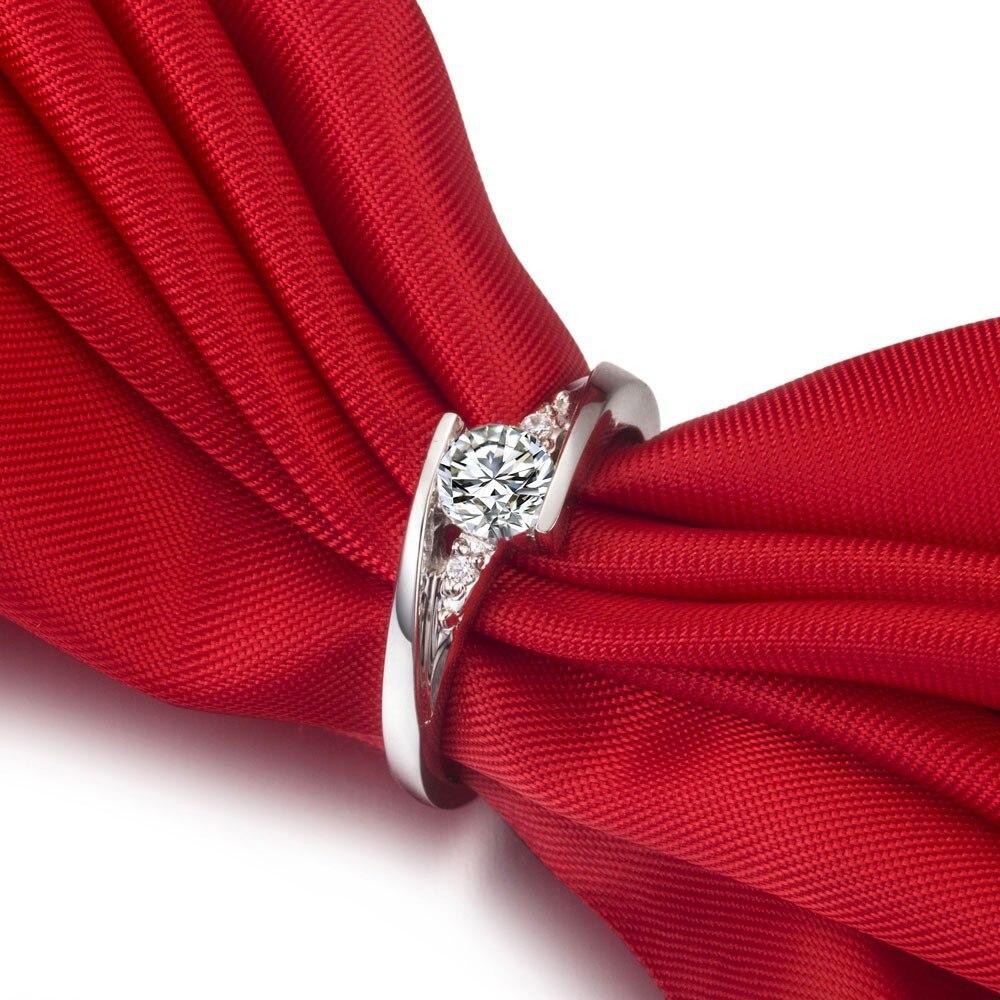 Бриллиант, Муассанит звезда ювелирных изделий Тест Положительный 1CT твердое 585 Белое золото обручальное кольцо синтетическое драгоценный камень ювелирные изделия 14 карат золото