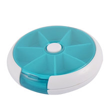 UXCELL Пластиковые 7 Отсеков Медицины Pill Box Дело Контейнер Зеленый Белый