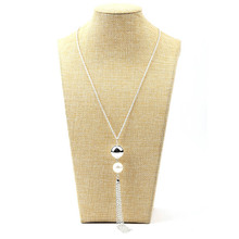 Imitation Pearl Tassels Necklace