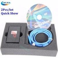 2 Unids/lote quickshow usb controlador rápida espectáculo de láser software de visualización de pantalla para espectáculo de láser etapa luz láser equipos