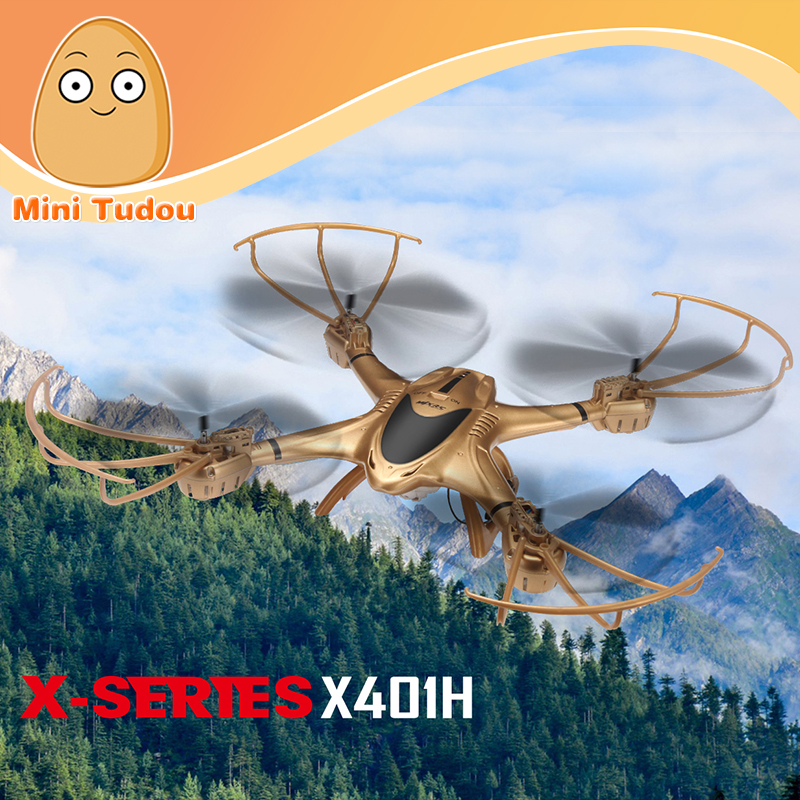 Minitudou 2016 New MJX X401H WIFI FPV 0.3MP HD Camera Drone RC Quadcopter Altitude Hold 3D Flip Helicopter RTF квадрокоптер радиоуправляемый mjx bugs 3