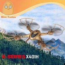 Minitudou 2016 New MJX X401H WIFI FPV 0.3MP HD Camera Drone RC Quadcopter Altitude Hold 3D Flip Helicopter RTF