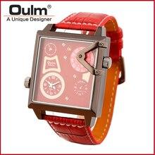HP3577 OulmQuartz Reloj Nuevo Con Etiquetas de Marca Hebilla de Envío Rápido de Los Hombres de Cuero Reloj de Pulsera Para Hombres de Alta Calidad