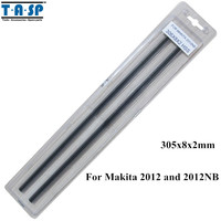 TASP 12 Thickness Planer Blade HSS Planer Knife 305x8x2mm For Makita 2012 And 2012NB