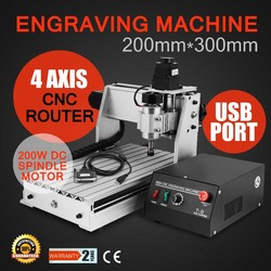 (From EU Warehouse)3020 4 AXIS CNC ROUTER  ENGRAVING MACHINE Updated Router Drilling and Milling Machine 4 Four Axis