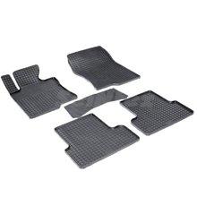 Резиновые коврики для Honda Accord VIII (2008-2012) с рисунком Сетка (Seintex 00758)