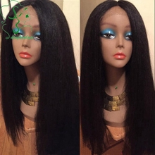 Light yaki full lace wig with silk base virgin Brazilian silk top lace front wigs u part human hair wigs with natural hairline
