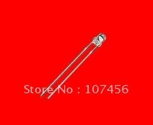 (15000 pces) 3mm led vermelho superior liso