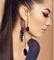 модный европейский панк горный хрусталь серьги-капельки, элегантный и изящный стиль