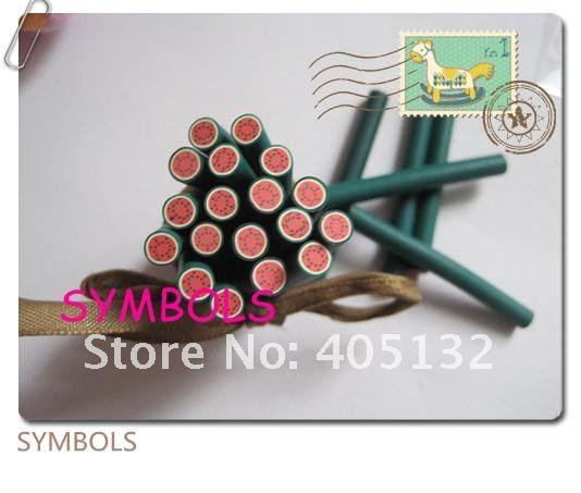 A-03 100 шт 5 мм круглый Арбуз Полимерная глина трость Необычные дизайн ногтей Полимерная глина трость