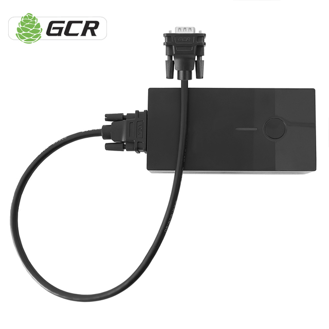 GCR VGA to VGA Cable 0.5m 1m 1.8m Black Braided Shielding High Premium HDTV VGA Cable For PC Laptop Projector