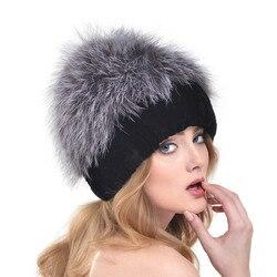 2016 New European and American Women Fashion Knit Fur Hat Rabbit Fur Autumn and Winter Female Fox Fur Thick Warm Ear Cap LH327