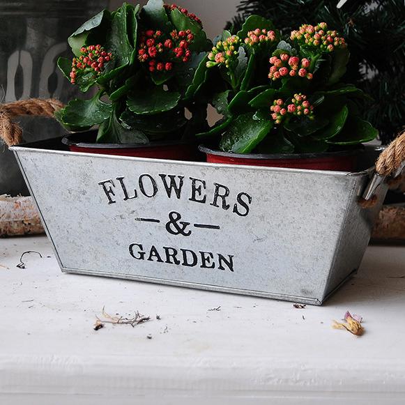 estilo de europa jardn maceta y jardineras de metal decorativos maceta galvanizado cubos para plantas vintage