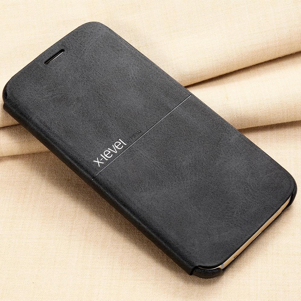 imágenes para X-Caja Del Teléfono de Cuero Para Samsung Galaxy S7 S7 borde Plano Ultra delgado Del Tirón de la Cubierta de Protección Completa Para Samsung S7 S7 borde