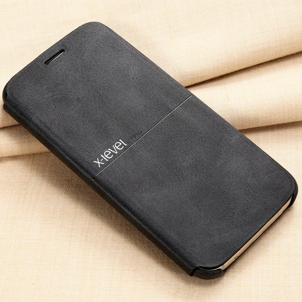 X Level Leather Phone Case For Samsung Galaxy S7 S7 edge Ultra thin Flip Full Protective