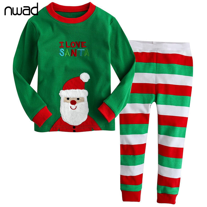 Kids Christmas Pajamas Set Fashion Santa Claus Pijamas Sleepwear For Children Cotton Home Clothing CF241 ...