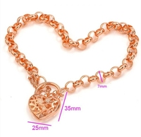mxgxfam очарование медальон сердце браслет сделано окружающей среды латунь