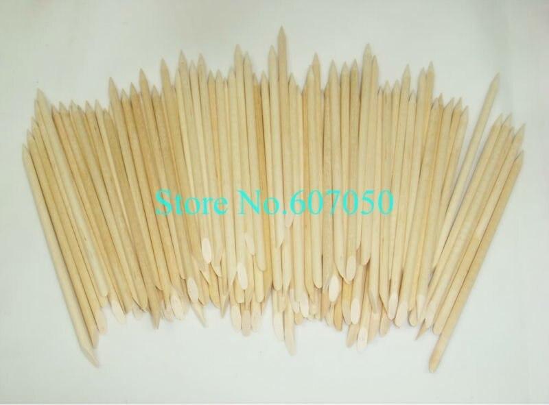 Free Shipping 500(=5bags) x 11.5cm Orange Wooden Nail Art Sticks ...