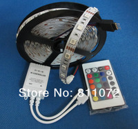 в продаже! яркий светодиодные ленты 5 м 300 смд 5050 РГБ светодиодная лента не водонепроницаемый цветов изменчива + 24key пульт ик пульт дистанционного управления
