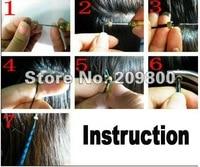 120 шт. 32 мм подсказка оснастки для наращивание волос / парик / уток 4 цветов