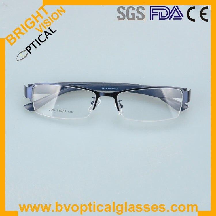 2299bluefold Factrory price half rim vintage optical frames eyewear glasses