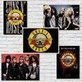 Guns N Roses Música Rock Cartazes Vintage Poster Retro papel Kraft Adesivo de Parede Decoração de Casa/Café/Bar cartaz/Retro Cartaz