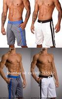 новое лето полиэстер короткие спортивные упругие талии мужчины шорты для бега фитнес дышащий баскетбол шорты