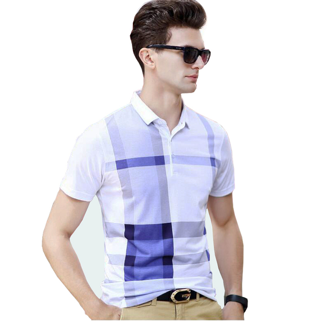 2017 summer new men's polo shirt Casual plaid short sleeved polo men  solid polo shirt polo ralphmen brand clothing