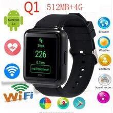 2016 neue q1 3g smart watch telefon mtk6580 android 5.1 os mit bluetooth wifi gps smartwatch unterstützung nano-sim-karte