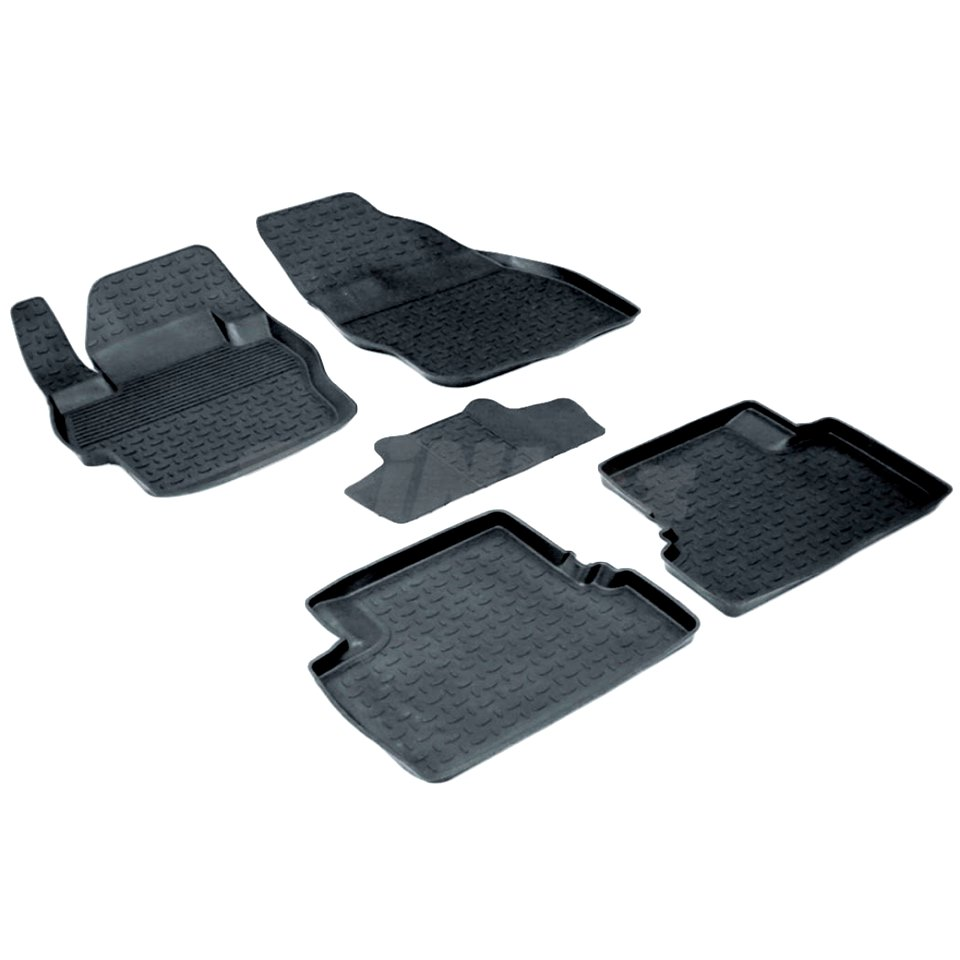 Rubber floor mats for Mazda 3 BL 2009 2010 2011 2012 2013 Seintex 01322