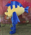 blue & yellow fish mascot costume for adult