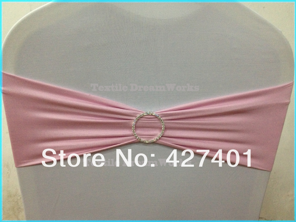 Горячая Распродажа детская розовая лайкра лента/повязка из спандекса с круглым горный хрусталь броши для украшения свадьбы