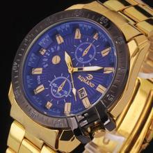 Marque de luxe Hommes de Montre Horloge De Mode Or Bracelet En Acier Inoxydable Date Quartz Analogique Montre-bracelet Homme Homme Sport Montres Relogio