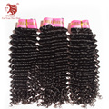 """3 шт./лот Малайзии weave волос девственницы 12-30 """"Класс 6а необработанные глубокие фигурные Малайзии выдвижение человеческих волос DHL бесплатная доставка"""