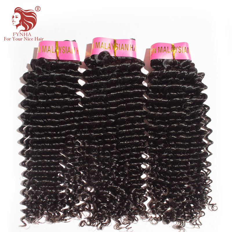 3pcs/lot Malaysian virgin hair weave 12-30'' Grade 6a unprocessed deep curly Malaysian human hair extension DHL free shipping