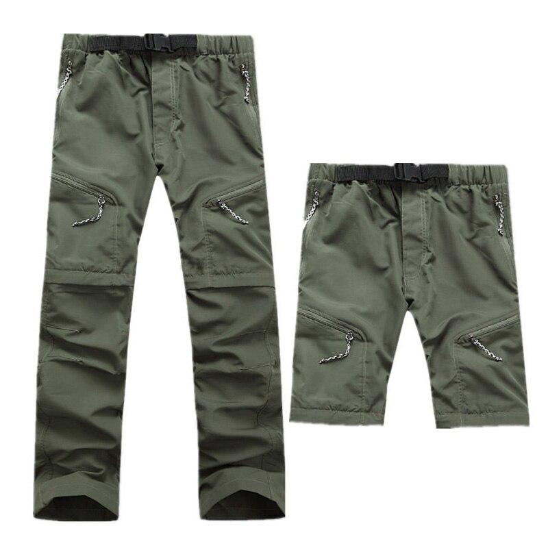 Prix pour Hommes Respirant En Plein Air Pantalon de Randonnée Pantalon Hommes À Séchage Rapide Amovible Camping Pantalon Homme D'été Mâle Chasse Escalade Pantalon S-XXXL