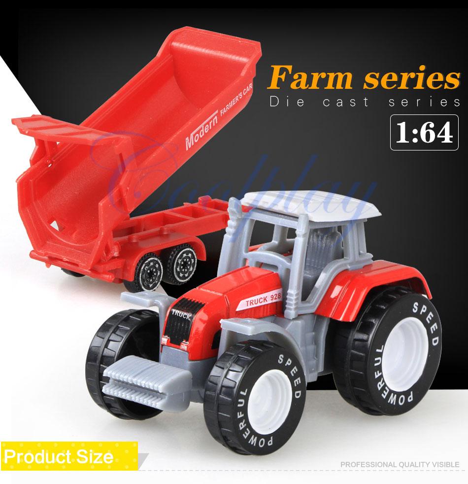 Cool play 4pcs/set Alloy Farmer engineering car/tractor
