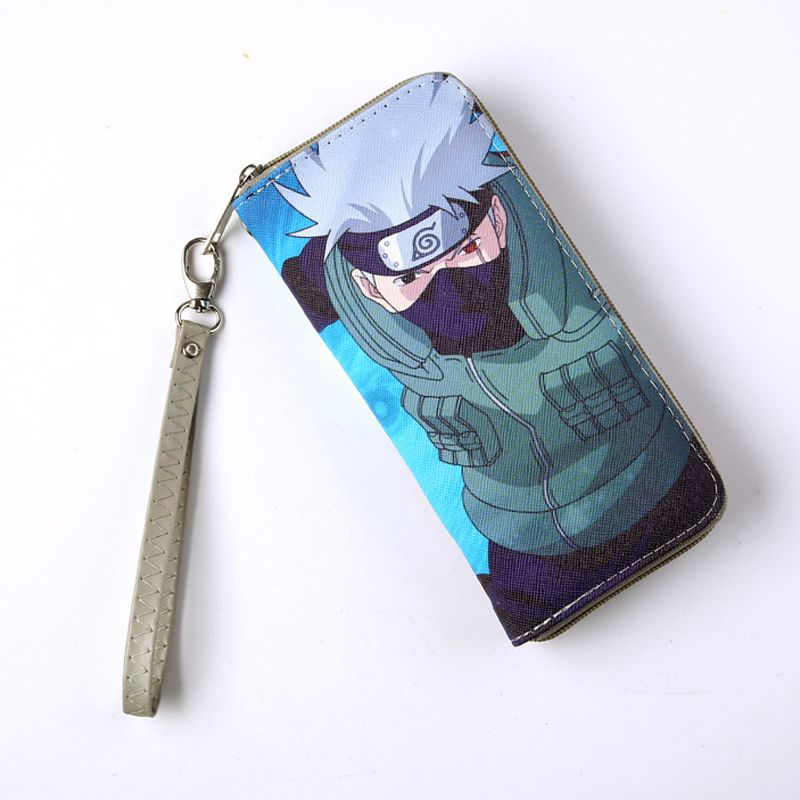 Naruto shippuden Long Style Wallet Anime Hatake Kakashi Colorful Cool PU Purse with Zipper pu short wallet w colorful printing of naruto shippuden uchiha itachi