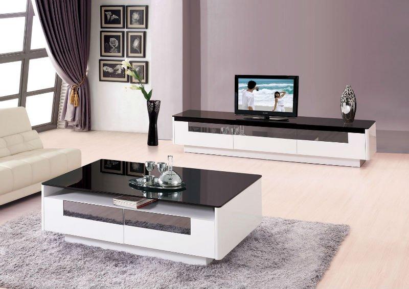 2012 Modern design Glass top living room coffee table set ...