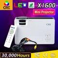 Delgado Soporte Móvil Android Miracast Airplay Wifi HDMI Pico de Cine En Casa Portátil HD 1080 P de Video LED Mini Proyector LCD