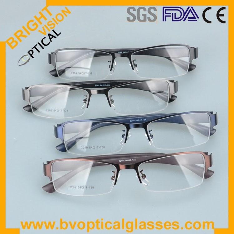 2299he Factrory price half rim vintage optical frames eyewear glasses