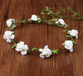 Girl Wedding Handmade Flower Crown Beach Flower Wreath For Hair Bridal Headdress Women Headband Hairband Hair Band Accessories