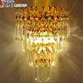 M Eourpean Style Beside K9 Crystal Wall Lamp Include Bulbs LED Golden and Silver Circular Light for Living room Bedroom Hallway