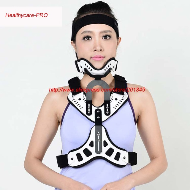 1 pc medical tratamento espondilose cervical trator vértebra traction neck brace suporte head and neck peito dispositivo de correção