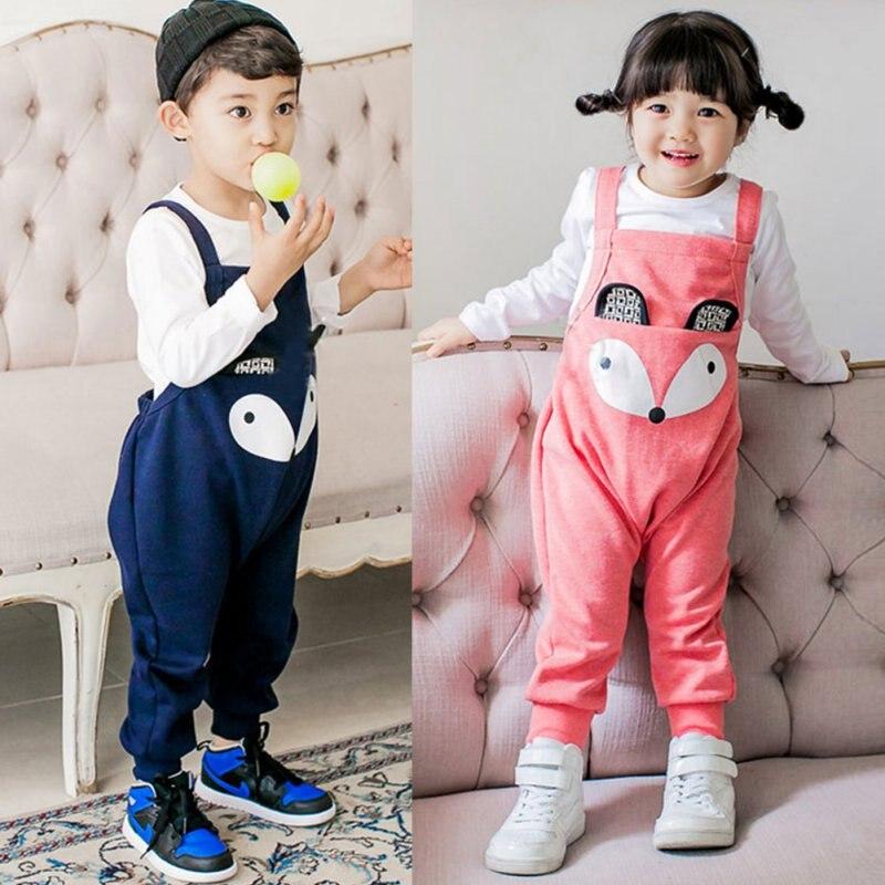Cotton Blend Cartoon Baby Infant Child Girl Boy Toddler Overalls Baggy Harem Pants Romper Счастье