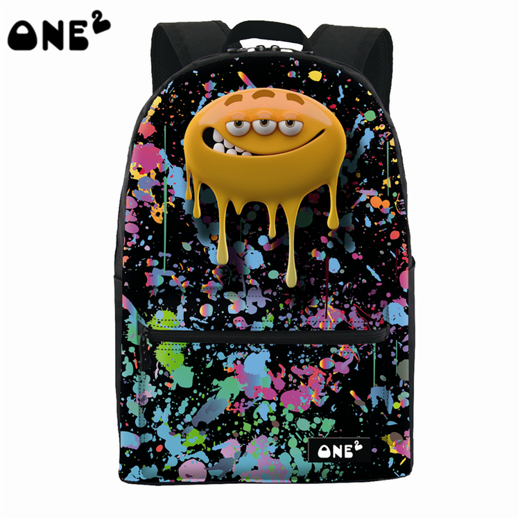 34f1f71465 2016 ONE2 Design big mouth monster pattern nylon custom wholesale school bag  best popular backpack brands name for kids-in Backpacks from Luggage   Bags  on ...