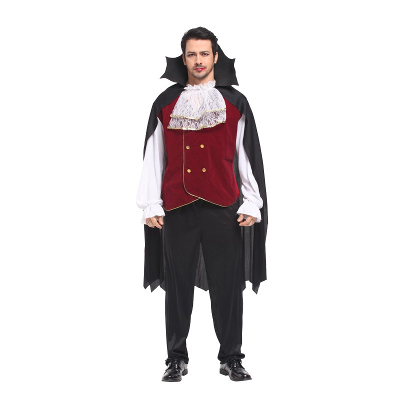 Fantasia Halloween Vampire Costumes for Man Dracula Cosplay Carnival Masquerade stage show Medieval European aristocratic dress