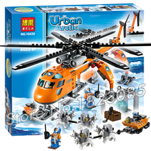 273pcs 2016 BELA New City Arctic Helicrane Helicopter building Figures Model Toys jail cell Bricks Compatible with Lego