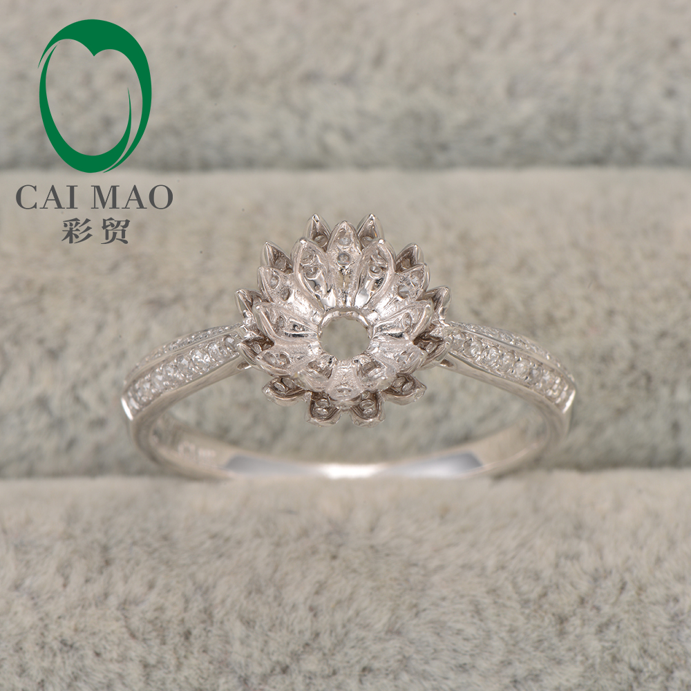 flower lotus engagement ring rings